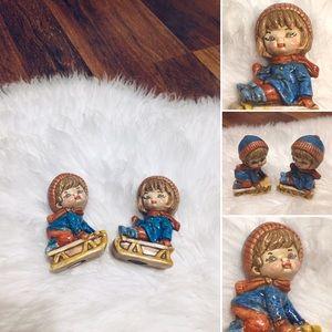 🦋2/$10 3/$15 4/$18 5/$20 Vintage Winter Sled Kids
